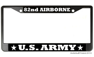 US Army 82nd Airborne License Plate Frame