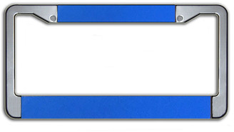 Customizable License Plate Frame