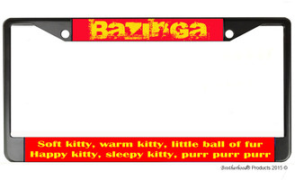 Big Bang Theory Bazinga License Plate Frame