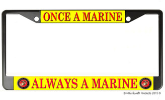Once A Marine, Always a Marine License Plate Frame
