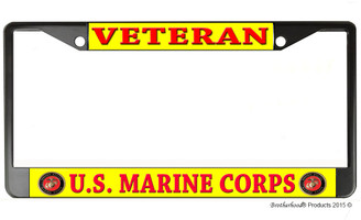 Veteran US Marine Corps License Plate Frame