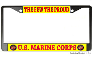 The Few The Proud US Marine Corps License Plate Frame
