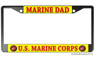 Marine Dad US Marine Corps License Plate Frame