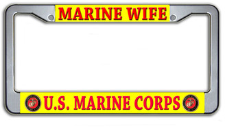 Marine Wife US Marine Corps License Plate Frame