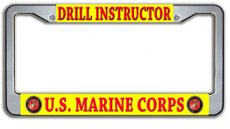Drill Instructor US Marine Corps License Plate Frame
