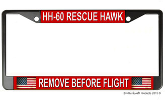 HH-60 Rescue Hawk Remove Before Flight License Plate Frame