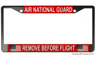 Air National Guard Remove Before Flight License Plate Frame