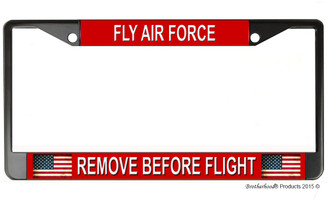 Fly Air Force Remove Before Flight License Plate Frame