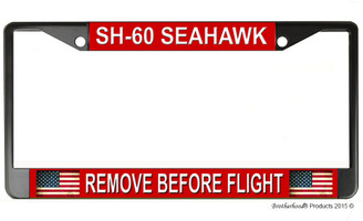 SH-60 Seahawk Remove Before Flight License Plate Frame