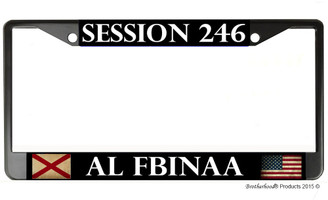 Session 246  FBINAA License Plate Frame