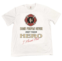 Maltese Cross Some People Never Meet Their Hero I Married Mine T-Shirt