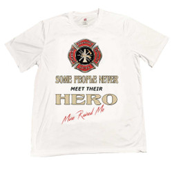 Maltese Cross I Was Raised By My Hero T-Shirt