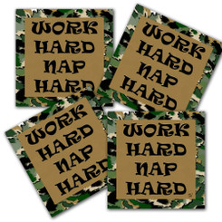 Work Hard Nap Hard Uncle Si Neoprene Coaster Duck Dynasty
