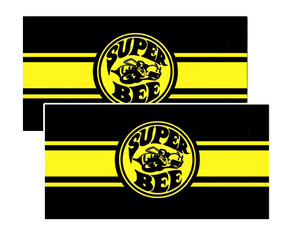 "Dodge Super Bee Decals 3.75"" x 1.90"""