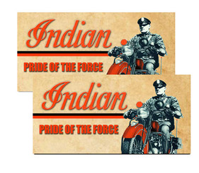 Indian Motorcycle Pride of the Force Police Decal