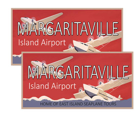 Margaritaville Island Airport Decal