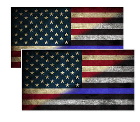Thin Blue Line Red White and Blue American Flag Decal