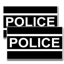 Black & White Police Decal