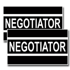 Negotiator Black And White Police Decal