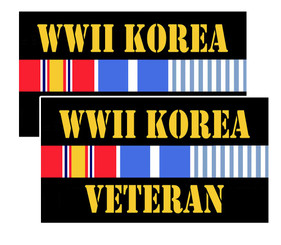 WWII (world war two) and Korea Decal