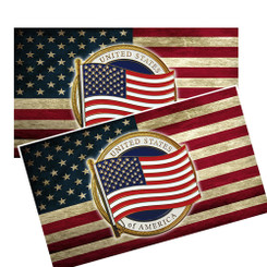 American Flag with president seal decal