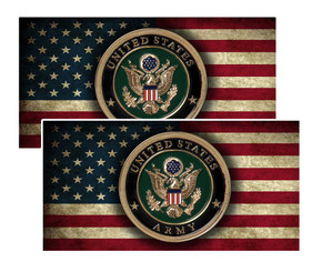 US Army Seal on American Flag Decal