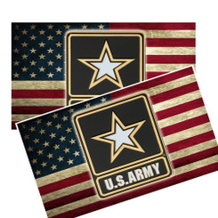 U.S. Army on Distressed American Flag Decal