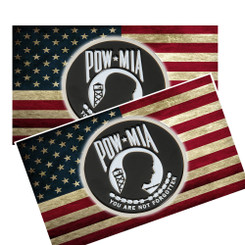 POW MIA on An American Flag Decal