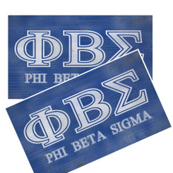 PHI BETA SIGMA DISTRESSED DECAL