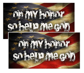 On My Honor So Help Me God American Flag Decal