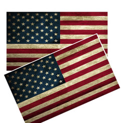 Distressed American Flag Car Decal