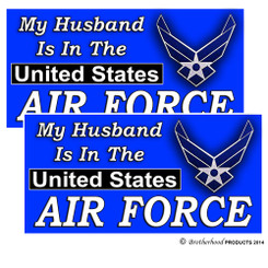 My Husband is in the United States Air Force Decal