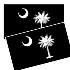 South Carolina Palmetto Crescent Moon Flag Decal