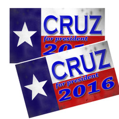 TED CRUZ For President 2016 Car Decals