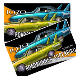19070 Plymouth Superbird Decal pack of 4