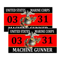 United States Marine Corp Machine Gunner 0331 Decals Package of 4