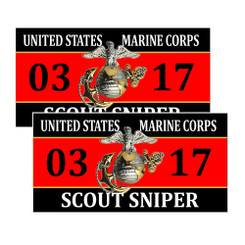United States Marine Corp Scout Sniper 0317 Decals Package of 4
