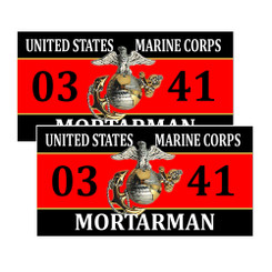 United States Marine Corps Mortarman 0341 Decals Pack of 4