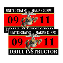 United States Marine Corps Drill Instructor 0911 Decals Pack of 4