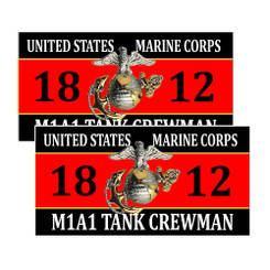 United States Marine Corps M1A1 Tank Crewman 1812 Decals Pack of 4