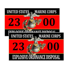United States Marine Corps Explosvie Ordinance Disposal 2300 Decals Pack of 4