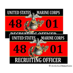 United States Marine Corps Recruiting Officer 4801 Decals Pack of 4