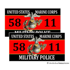 United States Marine Corps Military Police 5811 Decals Pack of 4