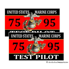 United States Marine Corps Test Pilot 7595 Decals Pack of 4