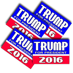Trump For President 2016 Decals Pack of 4