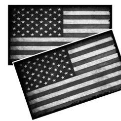 Subdued American Flag Decals Pack of 4