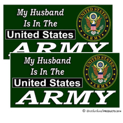 My Husband Is In The US Army Decals Pack of 4
