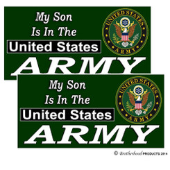 My Son Is In The US Army Decals Pack of 4