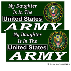 My Daughter Is In The US Army Decals Pack of 4