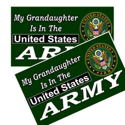 My Grandaughter Is In The US Army Decals Pack of 4